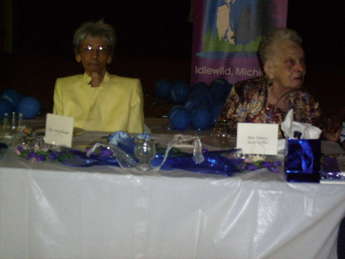 HONOREES: (ABOVE) Centenarians Mrs. Susie Bennett, 100, and Mrs. Gladys Scott Griffin, 103, were the special guests for the event. (Photo/Ann Walters)