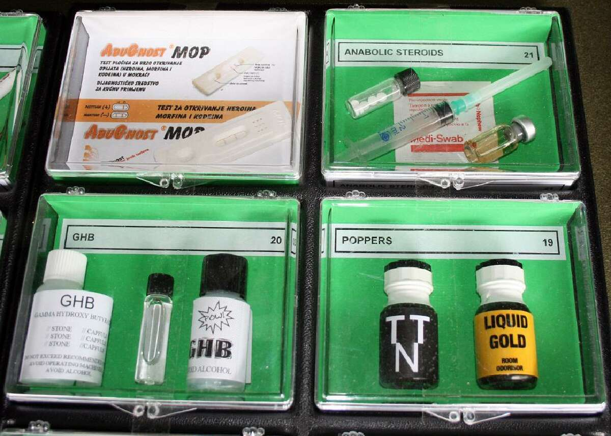 Anabolic steroids are shown in this file photo.
