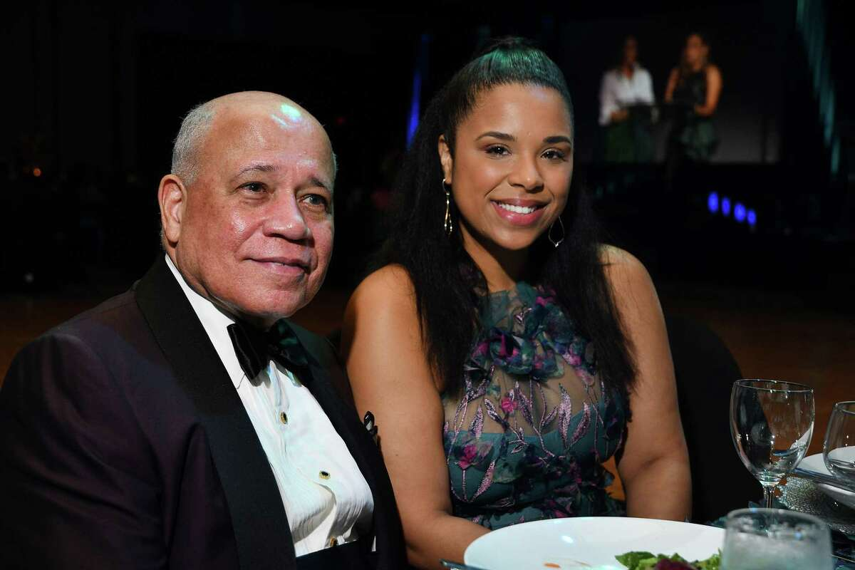 John Clemmons and Lauren Randle at the Ensemble Theatre's annual celebrity gala