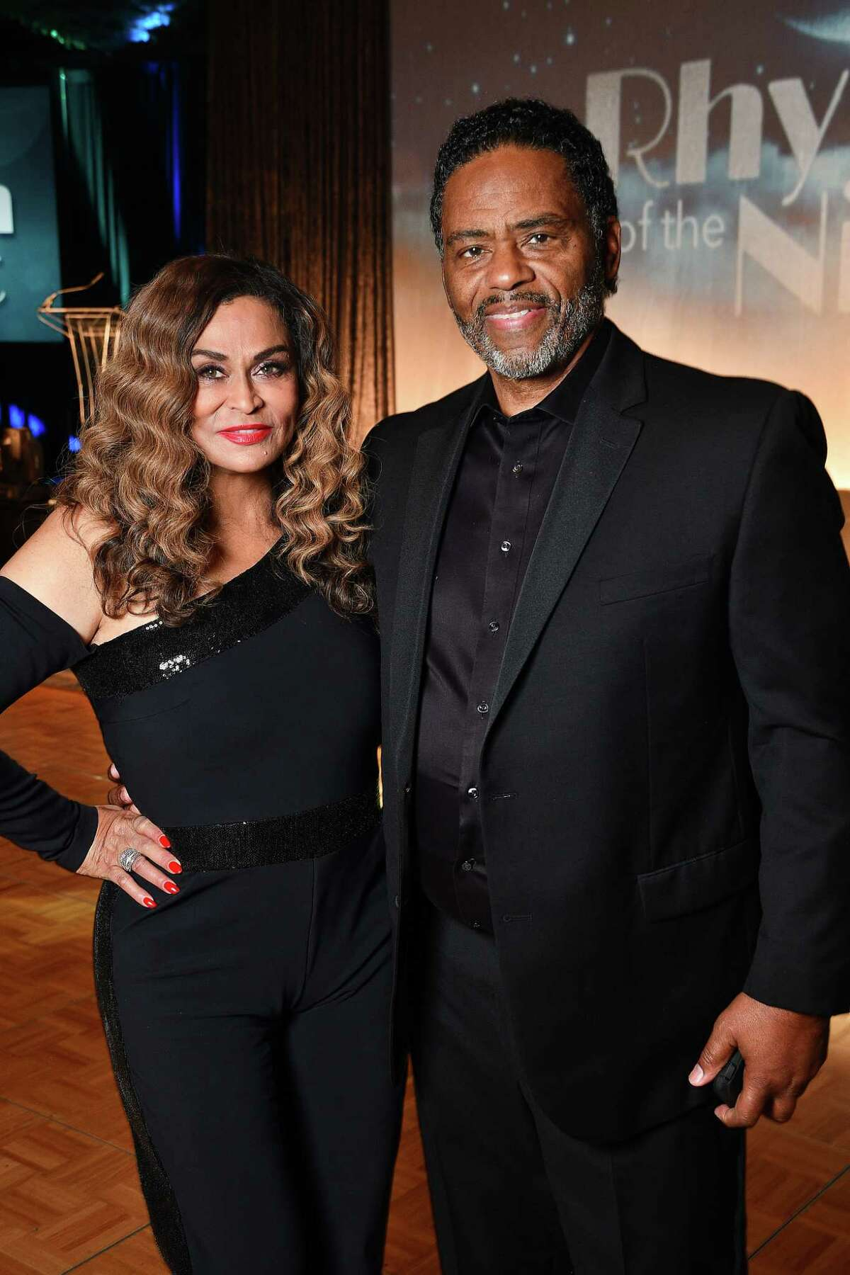 Tina Knowles Lawson and Richard Lawson at the Ensemble Theatre's annual celebrity gala