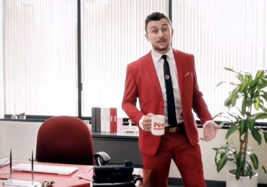 Johnny Manziel is back on TV peddling auto insurance for Direct Auto. Photo: Direct Auto