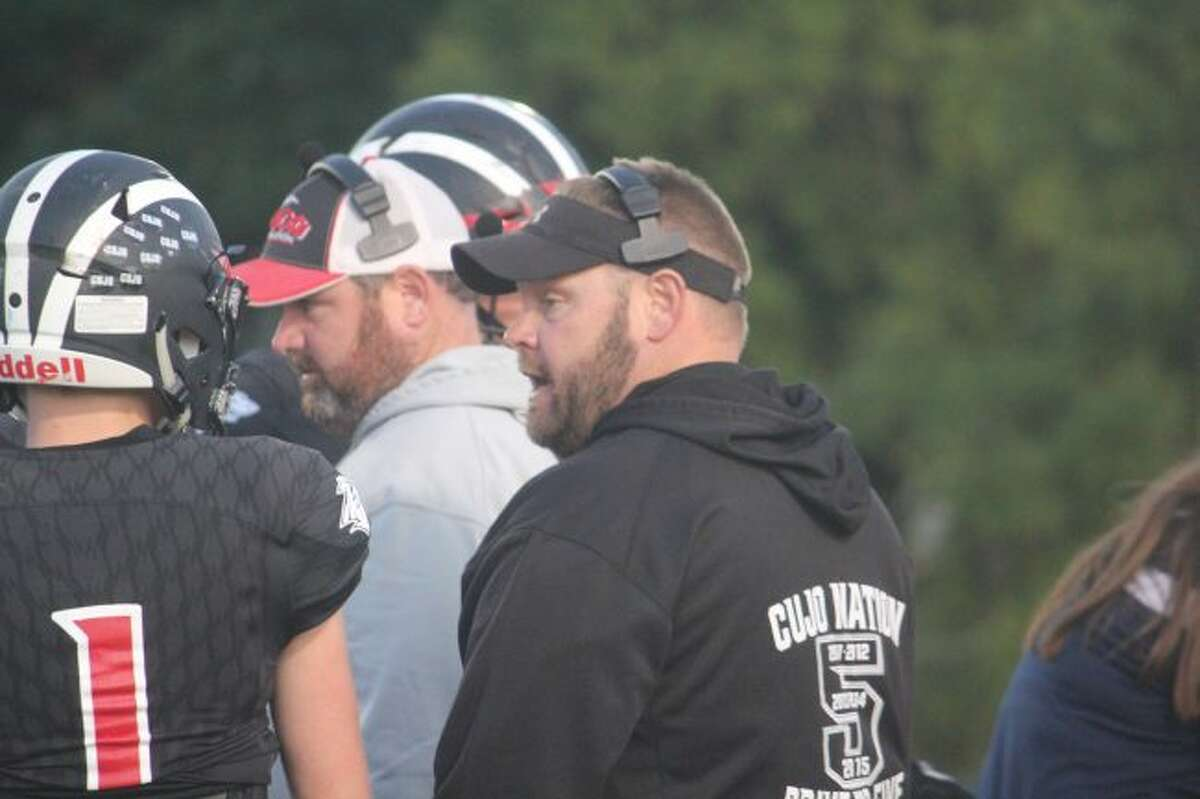 Reed City coach Monty Price has his team ready for Menominee.