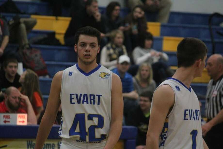 Nick Sylvester (42) had a strong senior season for Evart/