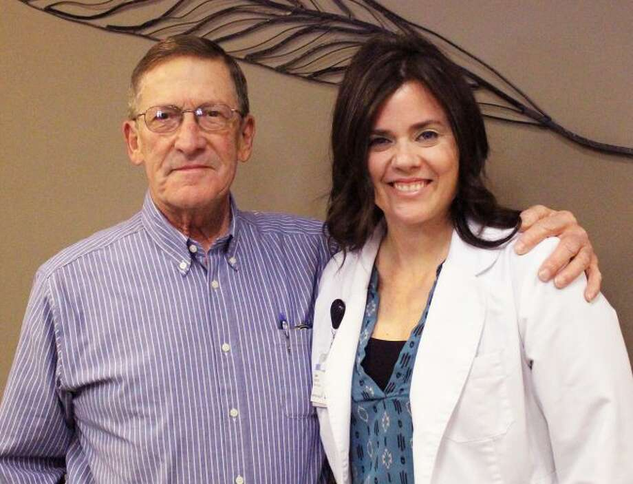 Diabetes Prevention Program graduate Dick Witbeck is pictured with program leader Layla Noordhof, RD. Opportunities to participate in the program for free are scheduled in both Big Rapids and Reed City. (Courtesy photo)