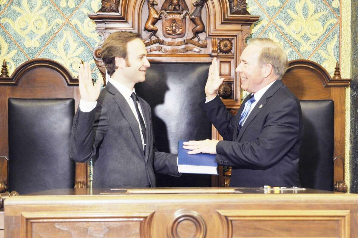At the Capital: State Rep. Phil Potvin, R-Cadillac, today was sworn into office for his second term as state representative for the 102nd District, as the 97th Legislature began in Lansing. Potvin represents the 102nd District which includes Mecosta County, part of Osceola County, Burdell Township, Cedar Township, Hartwick Township, Le Roy Township, Lincoln Township, Reed City, Richmond Township, Rose Lake Township, and Wexford County.