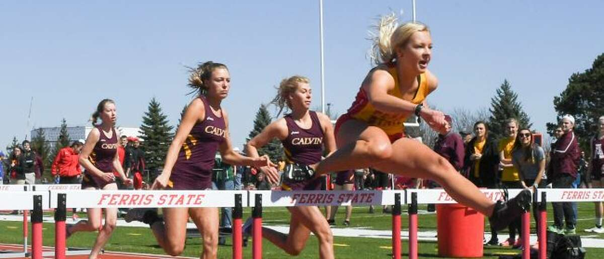 Hanna Price (far right) is read for a strong season at Ferris.