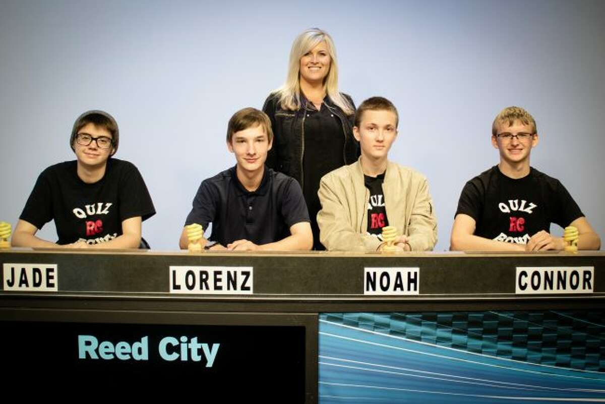 """Reed City High School will compete against Big Rapids High School on WCMU's """"Quiz Central"""" airing at 5:30 p.m. Saturday, Feb. 10. Reed City is coached by Katrina Wray and team members include Lorenz Hoernel, Noah Stahl, Jade Ebels and Connor Williams. Their alternates are Troy Todd and Sophie Van Antwerp. (Courtesy photo)"""
