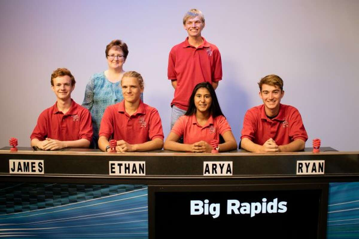 """Reed City High School will compete against Big Rapids High School on WCMU's """"Quiz Central"""" airing at 5:30 p.m. Saturday, Feb. 10. Big Rapids is coached by Susan McCullen. Team members include Arya Rao, Ryan Draves, Ryan Cosper and Ethan Westerkamp. Their alternate is James Morgan. (Courtesy photo)"""