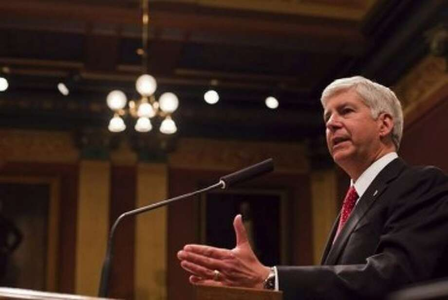 STATE OF THE STATE: Gov. Rick Snyder addressed the Michigan Legislature on Wednesday at the Capitol in Lansing. (MCT photo)