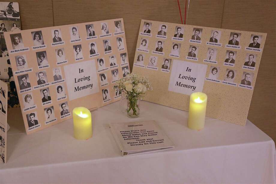 Late classmates were remembered at the Andrew Warde High School class of 1964's 55th reunion at Vazzano's Four Seasons on Saturday, Aug. 17, 2019, in Stratford, Conn. Photo: Jarret Liotta / Jarret Liotta / ©Jarret Liotta