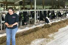 Amanda Freund, who has been working on her family's farm since she was a teenager, said their farm has implemented everything from robotic milkers to anaerobic digesters to repurpose cow manure, in order to remain viable.