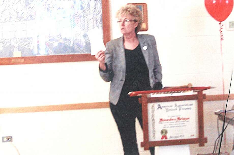 GUEST SPEAKER: Director of United Way of Mecosta and Osceola counties, Betty Seelye, explained the organization's goals.. (Courtesy photo)