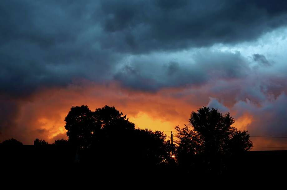 Janet Wolkenstein posted this image from the weekend's severe weather in North Greenbush. Meteorologist Jason Gough says a return of powerful thunderstorms could be in the region's future. Photo: Contributed