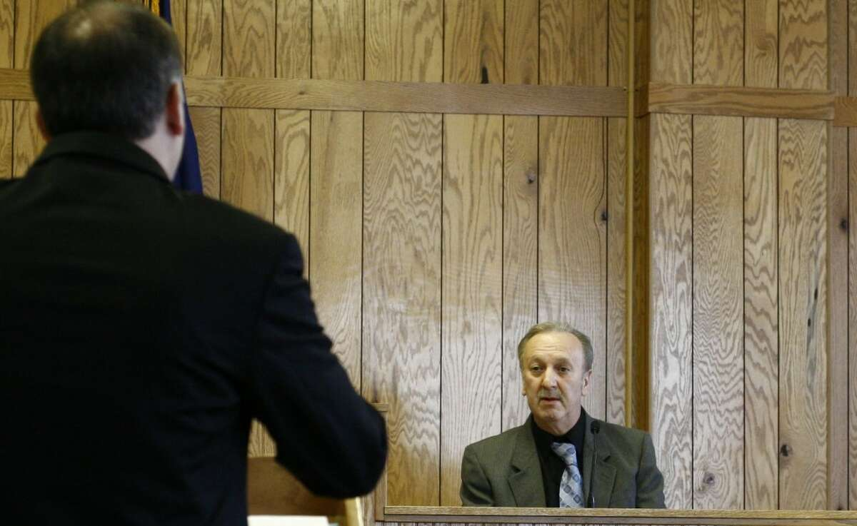 FATHER TESTIFIES: William Hullihen, Blake's father, testified on Friday about the night his son shot two people at a Marion gas station. After Blake told his father what he had done, William turned him in to Clare County Sheriff John Wilson. (Pioneer photos/Whitney Gronski-Buffa)