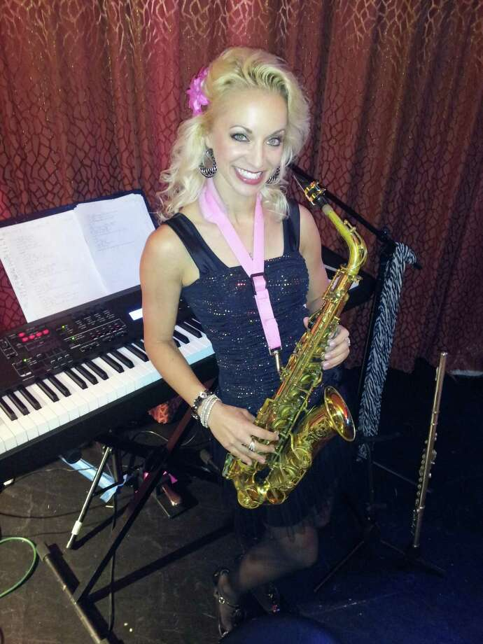 "Courtney Haines, aka ""Saxophone Barbie,"" will open Sting Ray Anthony's ""Rock N Roll Extravaganza"" on Saturday at 4 p.m. at the Crighton Theatre. Photo: Courtesy Photo"