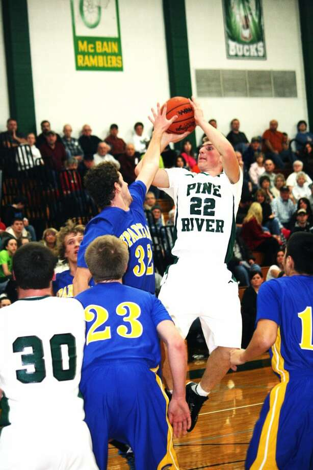 EXCELLENT SEASONS: Skyler Nelson (22, above) and Jamie Justin (12, below) have been two of the top players for Pine River basketball teams this season. (File photos)