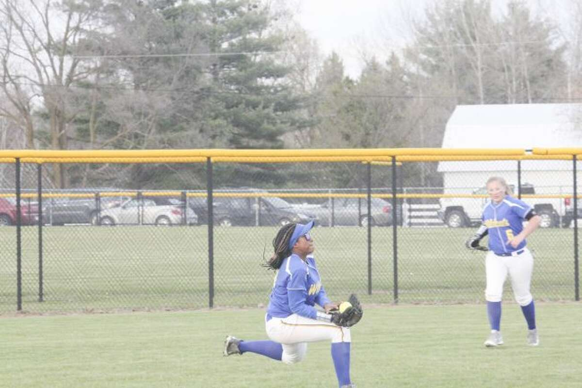GOT IT: Cyanna Dellar will be one of the top returning players for Evart softball this season.