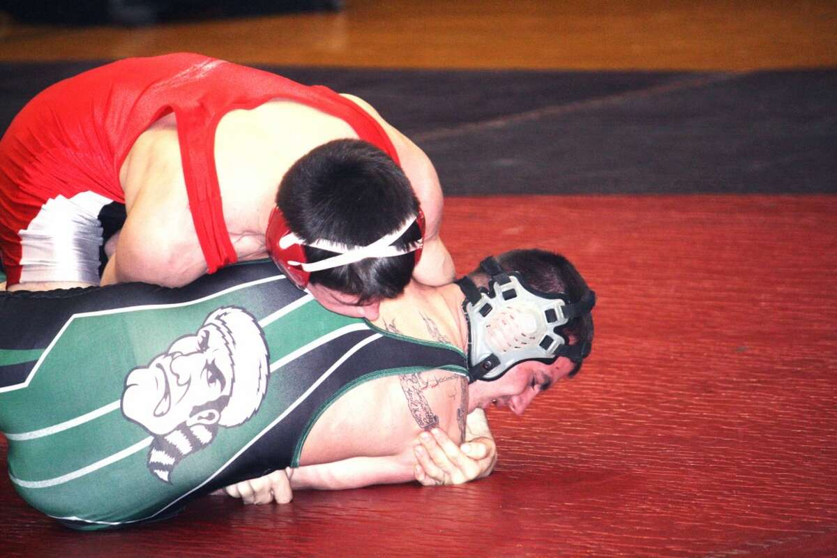 REGIONALS: Adam Kehr (top) works on an opponent in recent action (File photo)