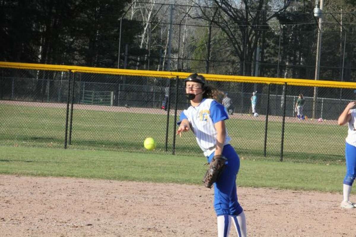Ashley Burhans delivers a pitch to the plate.