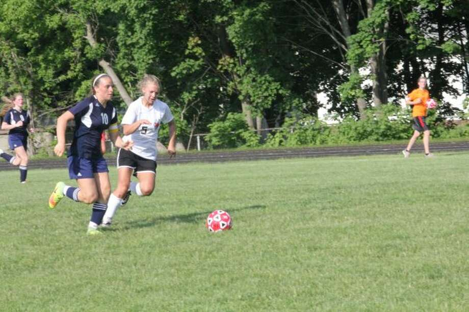 Reed City's soccer team lost to Lakeview last week.