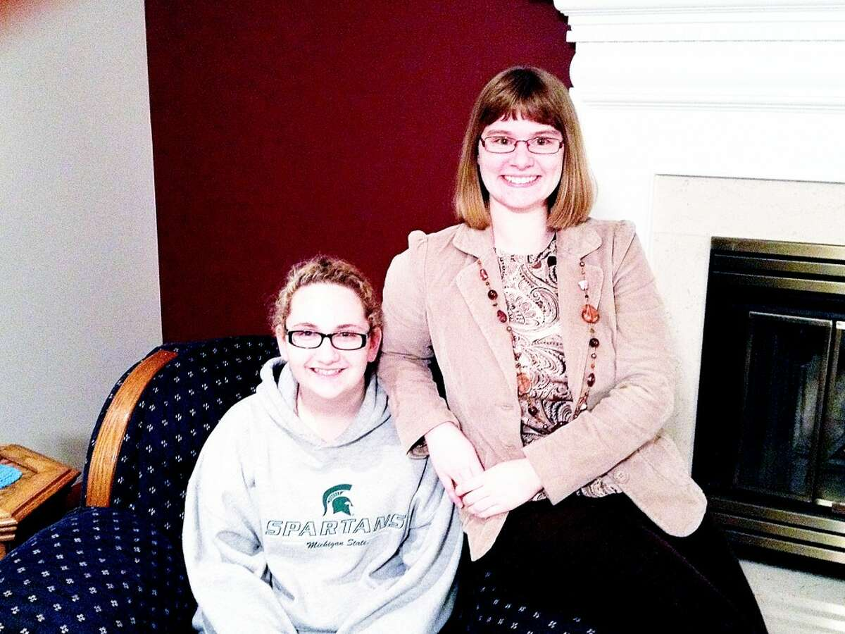 """NEW MATCH: Alex and her """"Big"""" Kaytlyn Sheldon, both of Reed City, were paired through Mid Michigan Big Brothers Big Sisters in October. Mid Michigan BBBS is opening a satellite office for Mecosta and Osceola counties. The branch that previously served the two counties closed in October. (Courtesy photo)"""