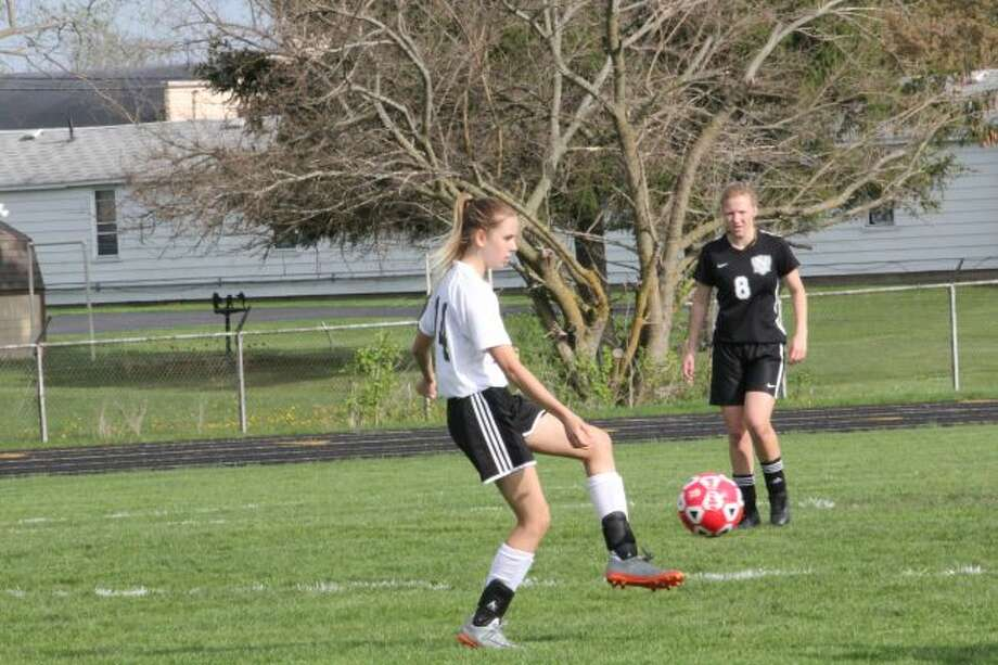 Olivia Addington works with the ball in recent action.