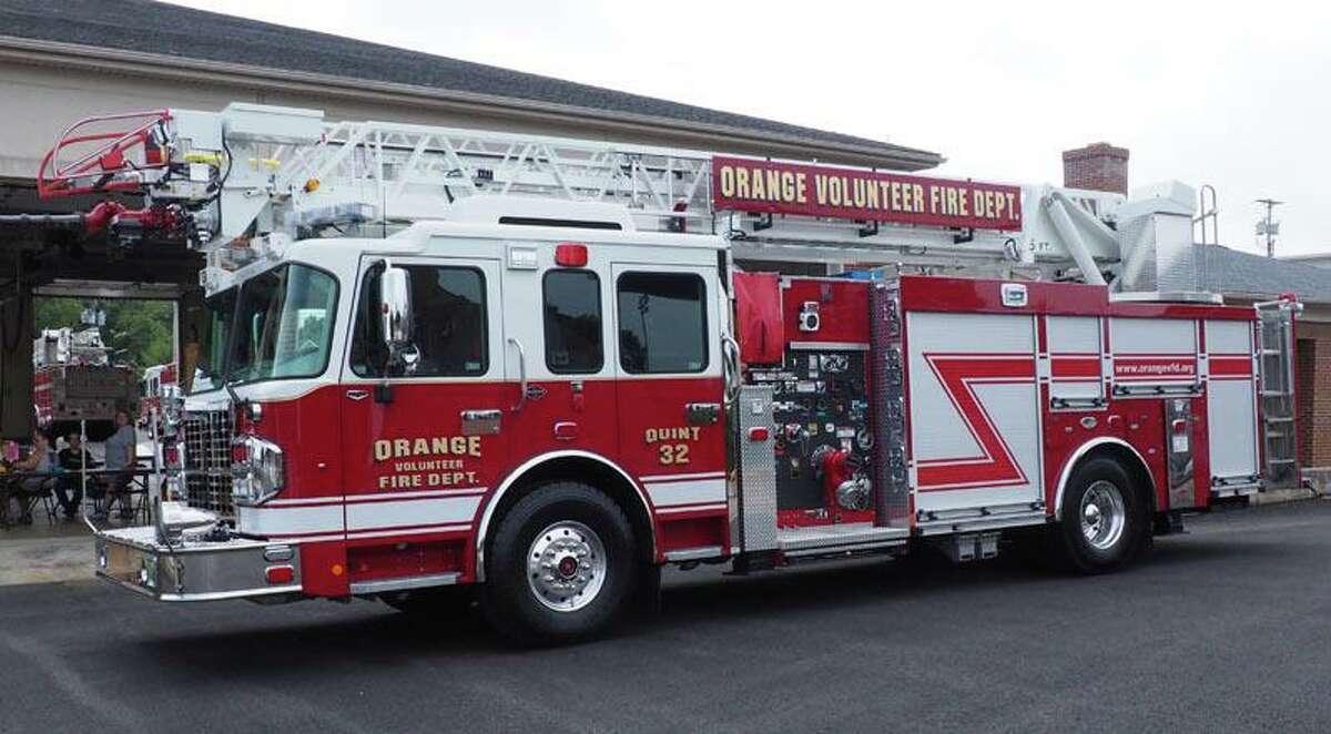 The Orange Fire Department's new truck, designated Quint-32.