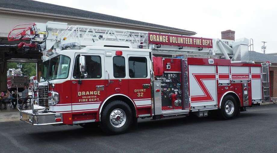 The Orange Fire Department's new truck, designated Quint-32. Photo: Contributed Photo.