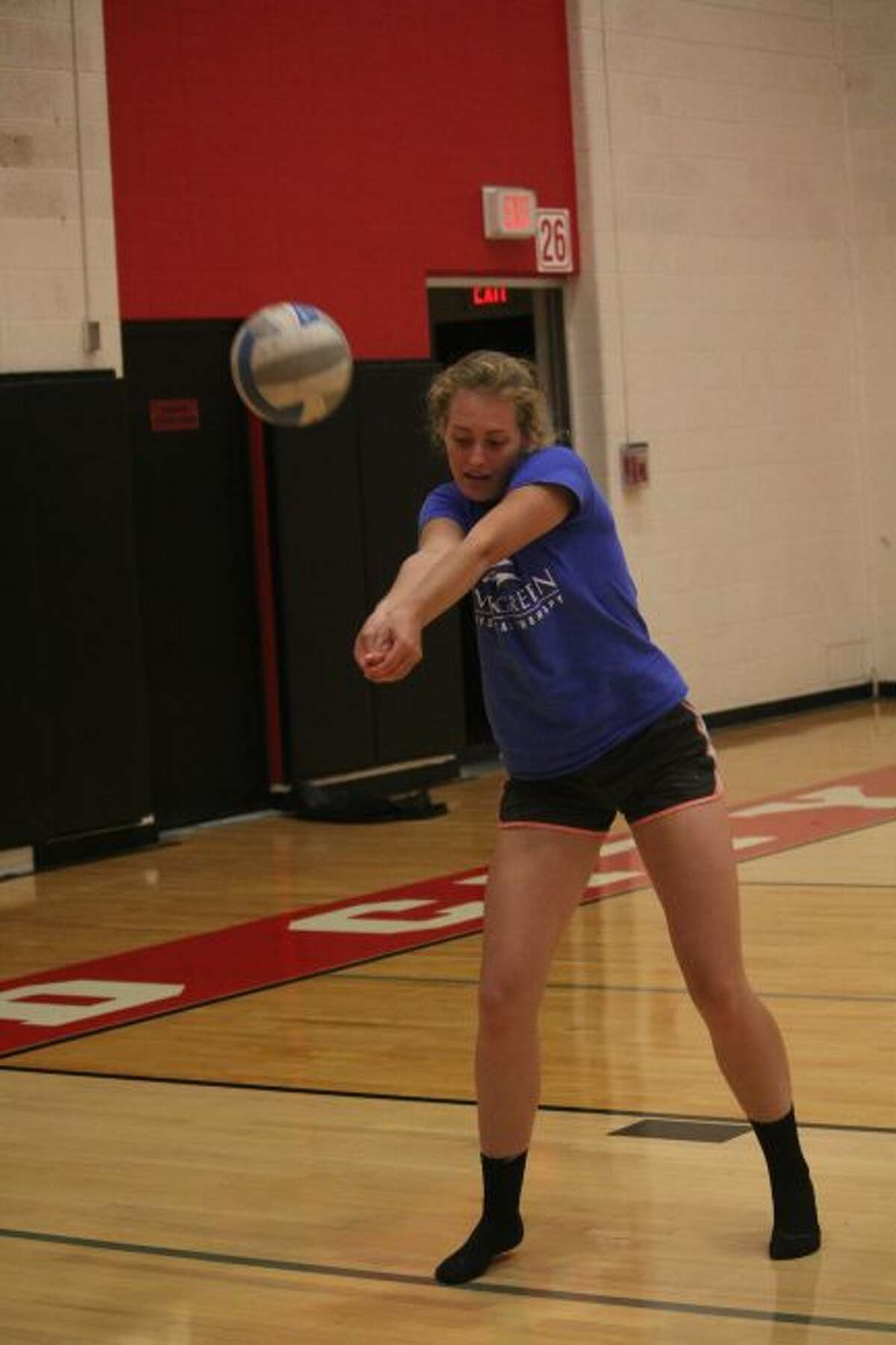 Alison Duddles works on her passing.