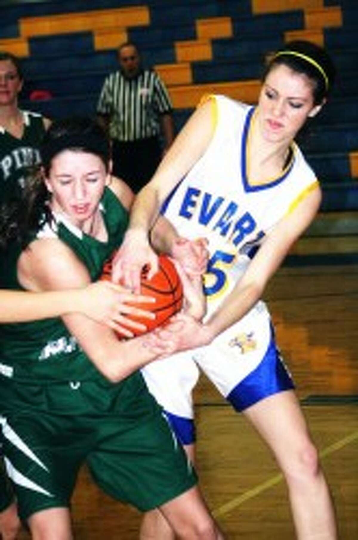 TOP TEAM: Mara VanOrder (right) tries to get control of the ball against an opponent. (File photo)
