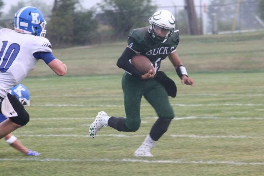Elijah Lewis is getting the job done for Pine River.