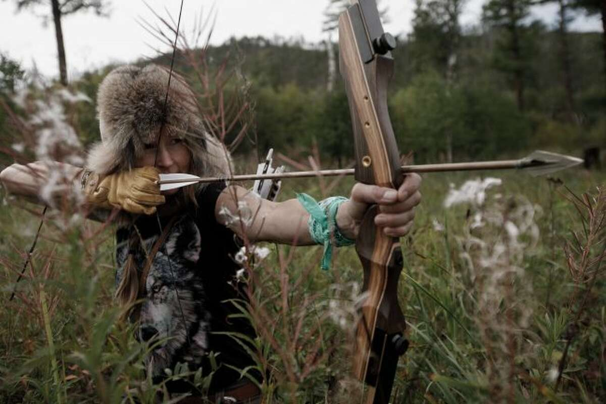 """Participants in """"Alone"""" are dropped into different wilderness environments and are left to survive on their own for as long as they can. Brooke Whipple lasted 28 days during the fifth season of the show, which was filmed in Mongolia. (Courtesy photo/Patrick T. Fallon)"""