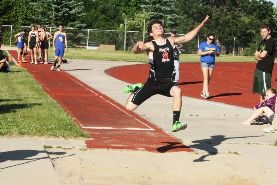 LONG JUMP: Eric Bradford hopes to be productive in the long jump this season for the Reed City Coyotes. (File photo)