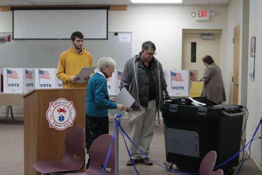 Along with selecting statewide office holders and ballot proposals, voters in Reed City also selected members of their city council. (Pioneer photo/Taylor Fussman)