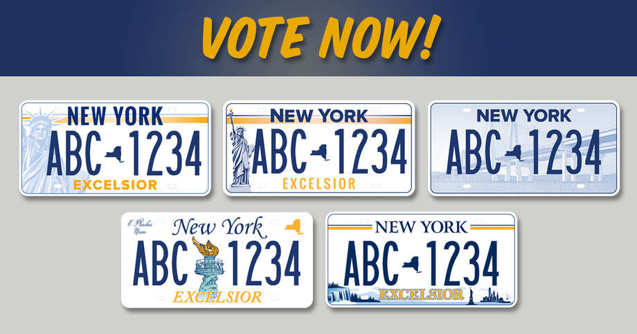 New Yorkers can choose the state's future license plate design Photo: Provided By Governor's Office
