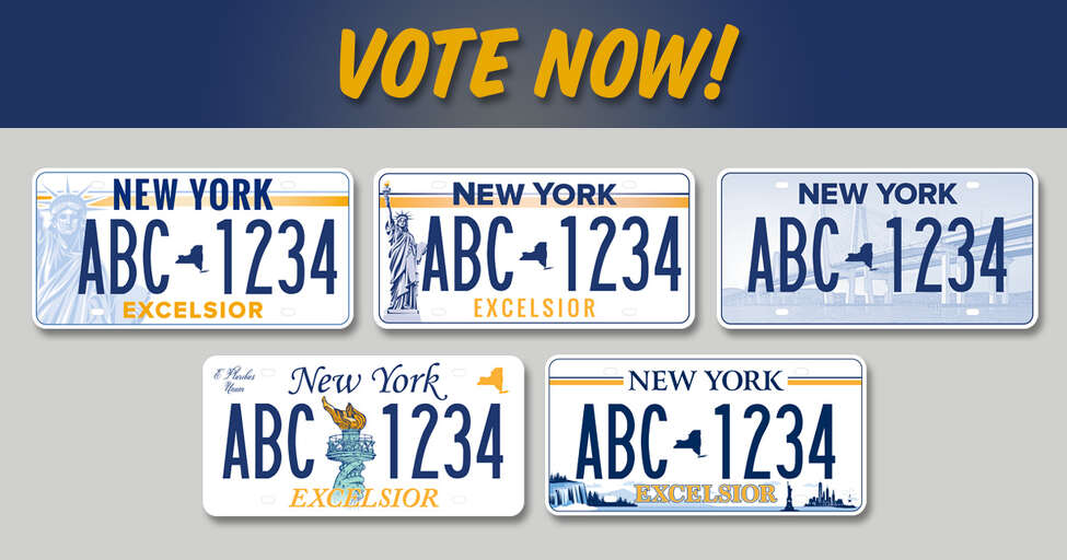 New Yorkers can choose the state's future license plate design