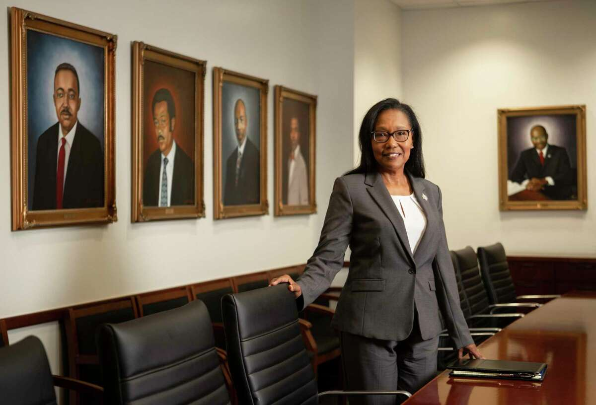 Joan R.M. Bullock, the new dean of Texas Southern University's Thurgood Marshall School of Law at the boardroom of the school on Wednesday, July 31, 2019, in Houston.