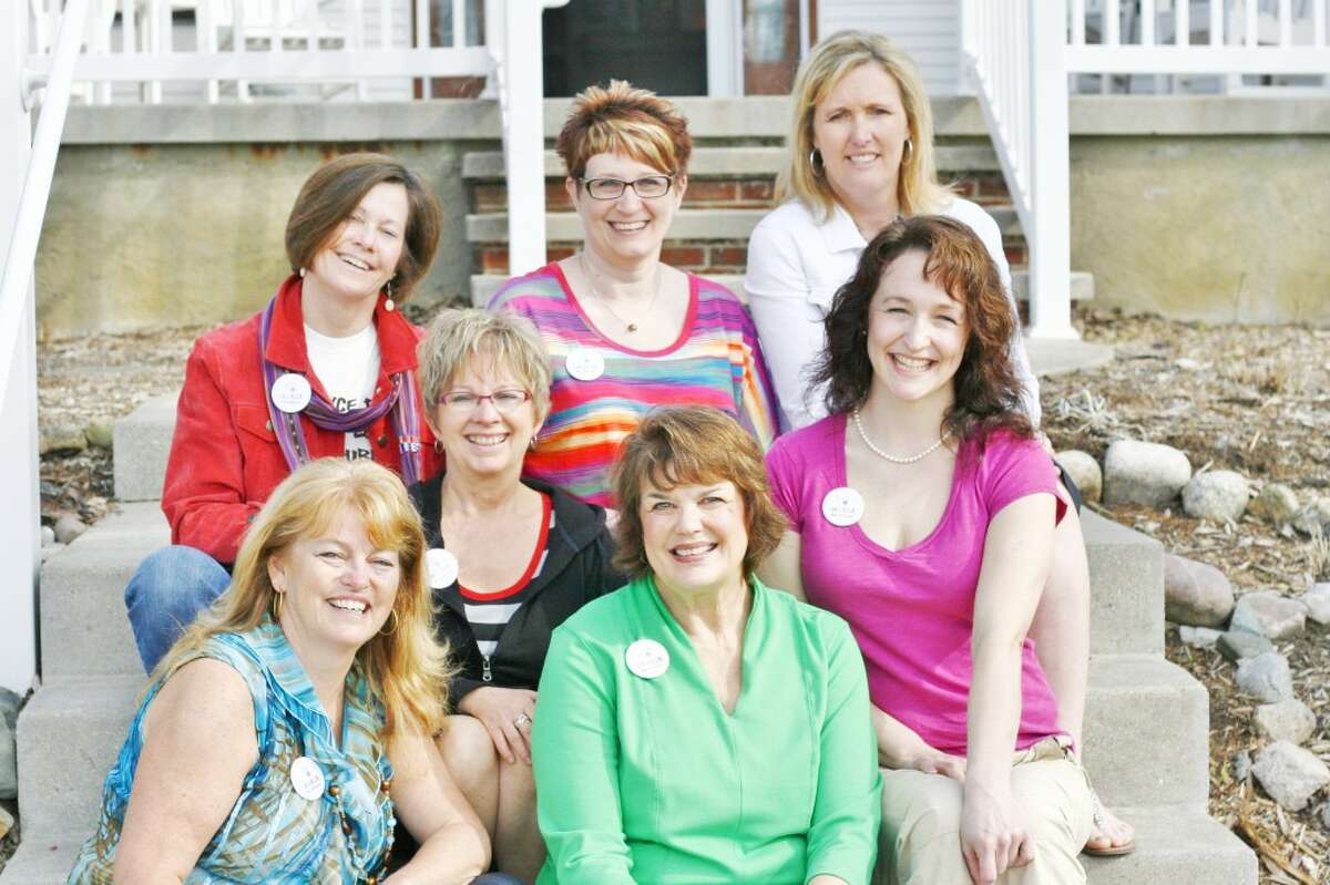 MOMS UPLIFTING MOMS: With the support of seven women, WISE is launching its MUM campaign this month. Pictured are (clockwise): Joni Thompson, Kelly Samuels, Brenda Connell, Lynne Scheible, Suzie Williams, Bea Cooper and Lori Suppes. (Pioneer photo/Whitney Gronski-Buffa)