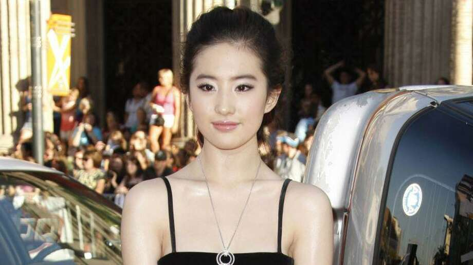 "Liu Yifei at the Los Angeles premiere of 'Hancock."" Photo: Matt Sayles/Associated Press"