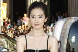 "Liu Yifei at the Los Angeles premiere of 'Hancock."""