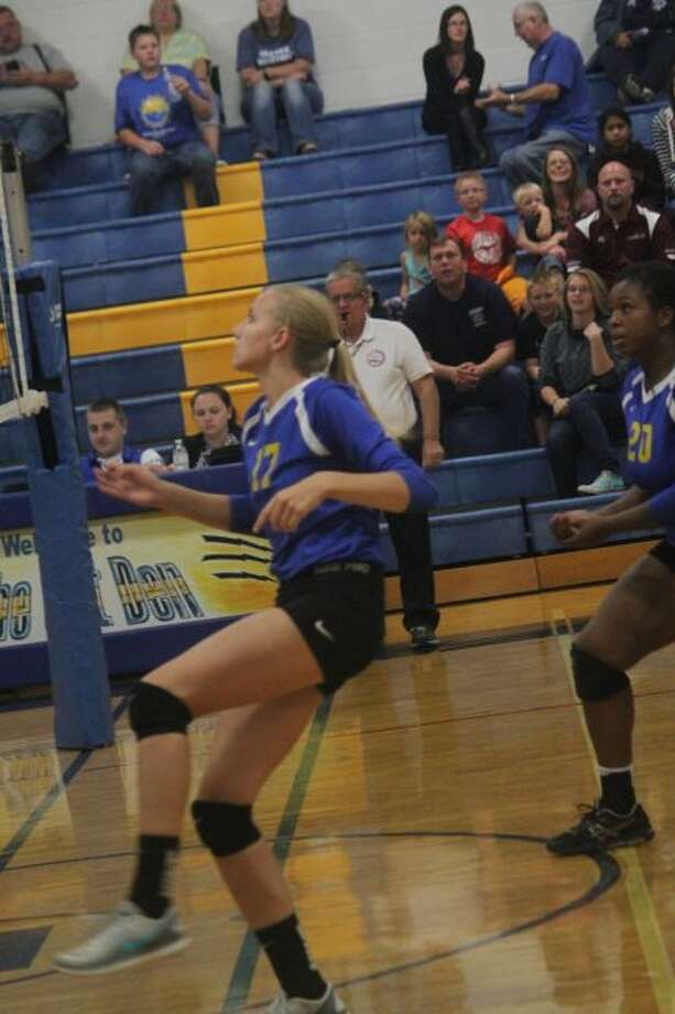 Kara Henry is having a strong season for Evart's volleyball team.