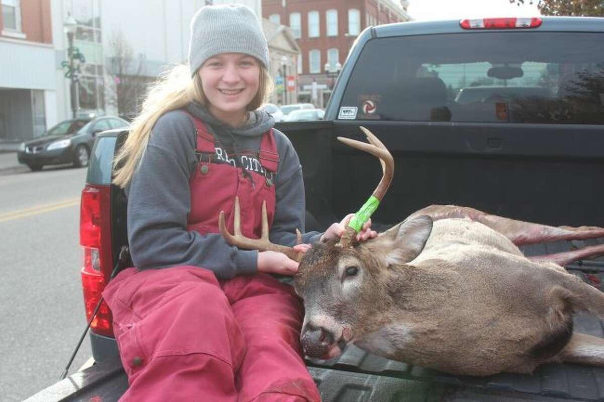 Katelin Reed bagged a 7-point buck during the firearm season