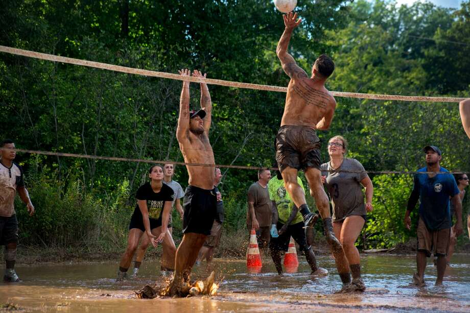 The Epilepsy Foundation of Connecticut's annual mud volleyball  tournament was held August 17, 2019 in Middletown. This year, more than  150 teams of volleyball players got down and dirty to play in the 33rd Photo: Lisa Nichols