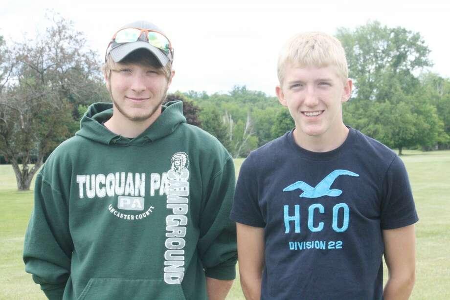 Reed City golf: Ben Schermerhorn, (left) and Spencer Battle competed in the regional finals last week. (Herald Review photo/John Raffel)