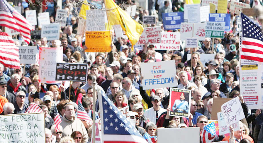 Grassroots: The Tea Party has found some success in getting their chosen politicians elected, but over all, many citizens find their far right ideas to be too extreme, which is sometimes exacerbated by their habit of being concidered too dramatic. (Courtesy photo) / AP2009