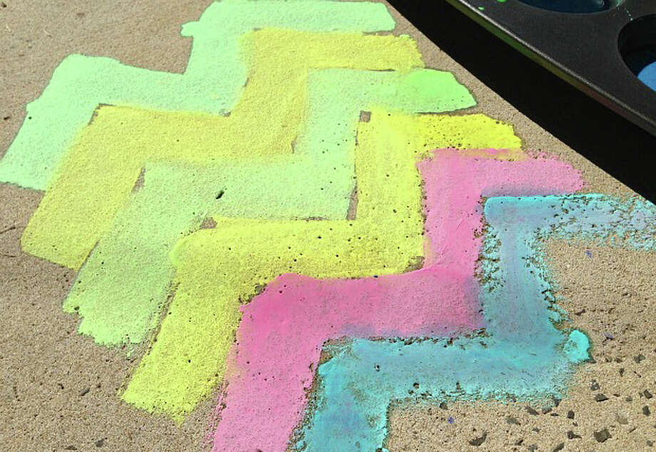 As an artform: Sidewalk chalk offers a colorful, fun way for art expression, without permanently damaging a medium. (Courtesy photo)