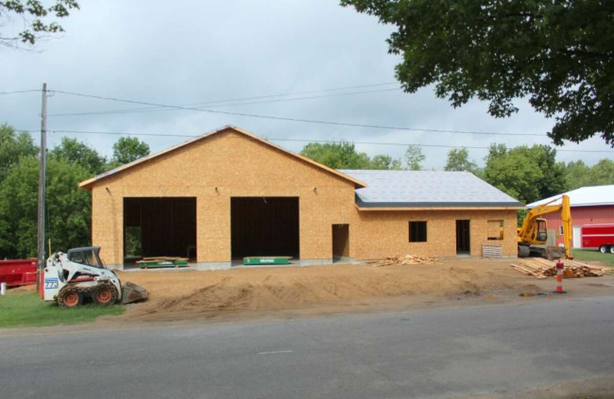 OPEN HOUSE: The new Osceola County EMS station is complete and and an open house has been scheduled for Jan. 28. The photo above is what construction looked like in August. (Herald Review file photo)