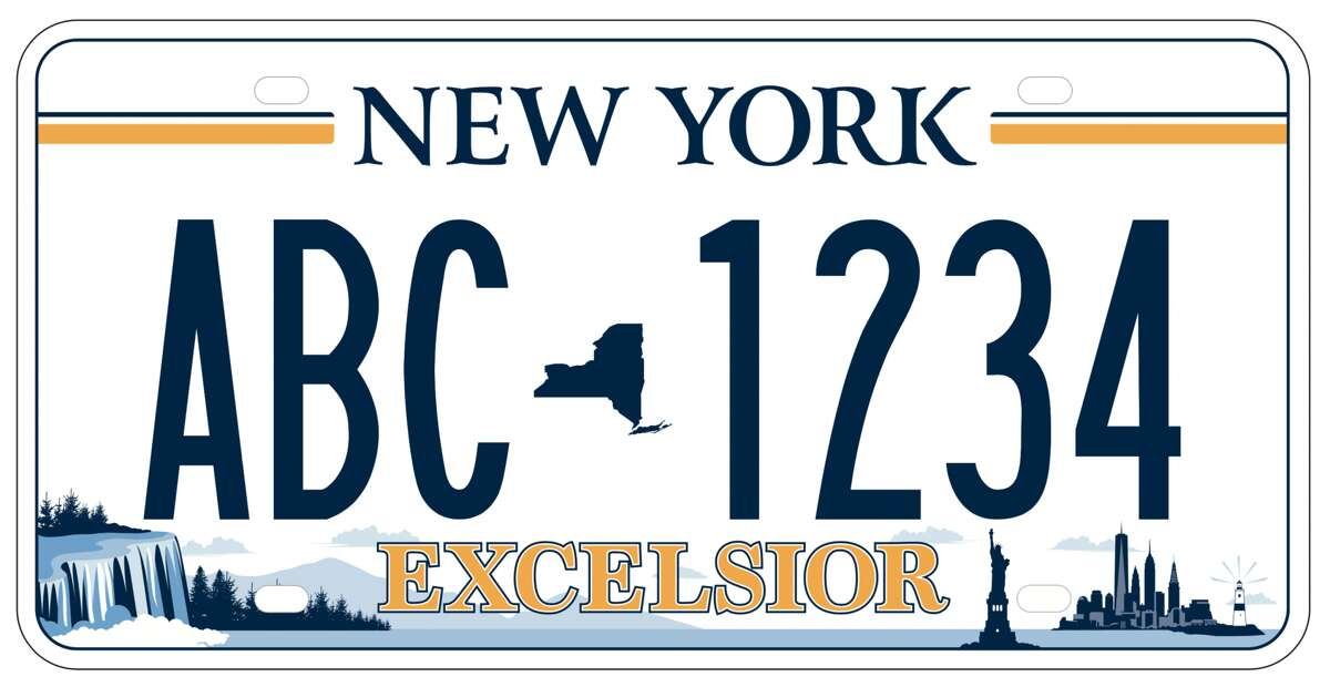 Winning design for the next state license plate, which will be rolled out in April 2020.