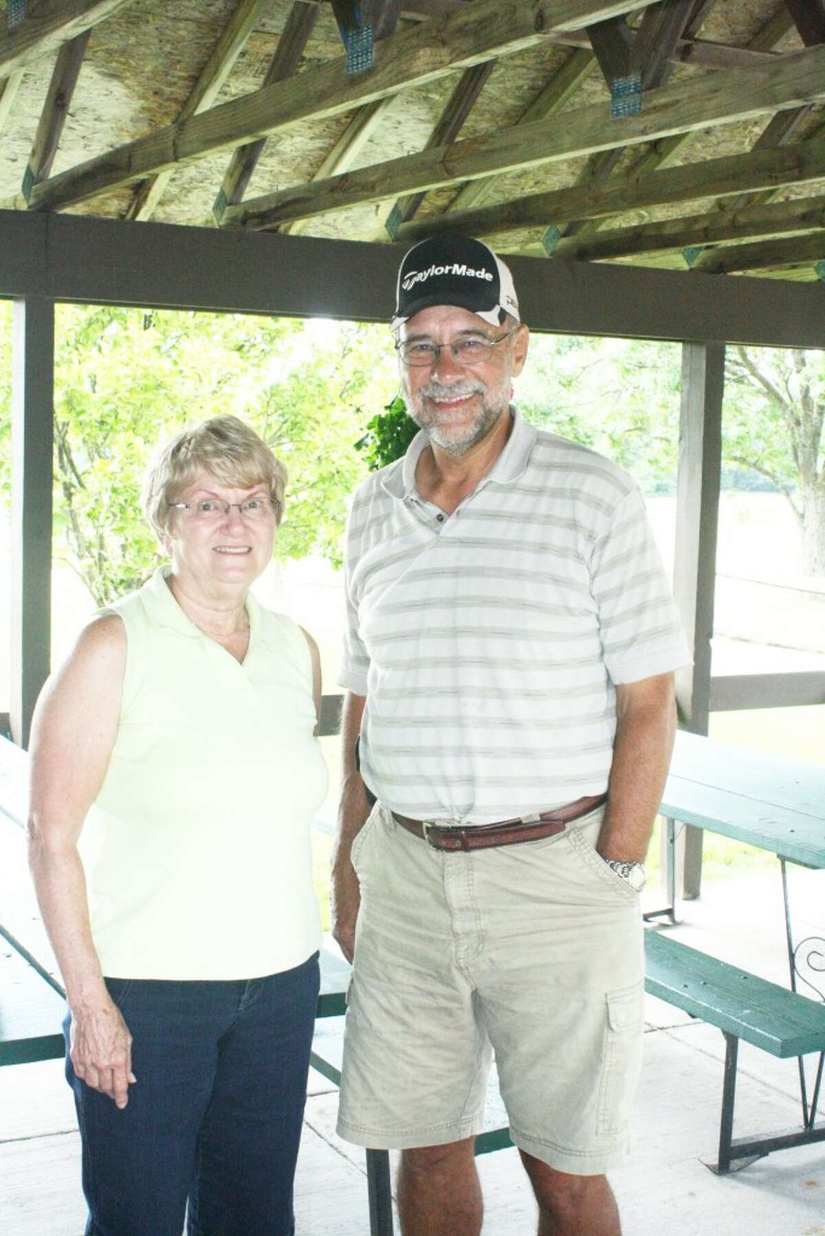 Couples: Kathy Gondick and Chuck Muir are partners in the Reed City Couples League at Spring Valley. (Herald Review photo/John Raffel)