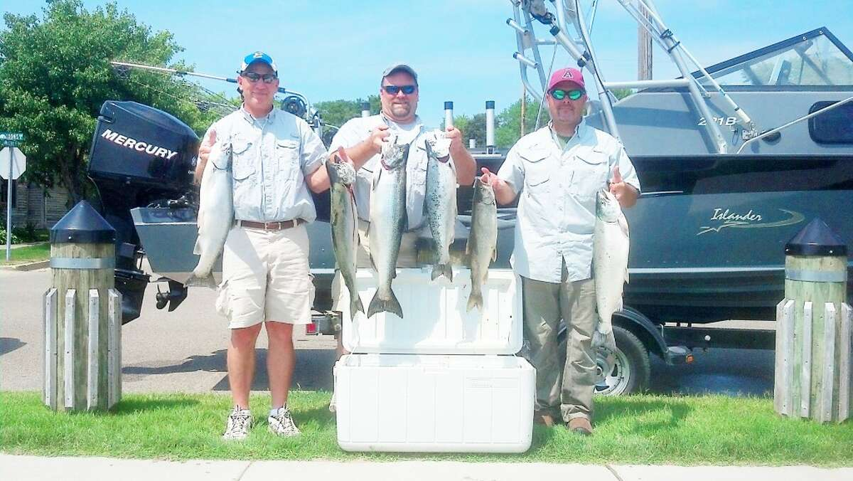 TOURNMENT: Mark Sochocki (left) of Evart and his partners had success at the recent Tournament Trail event in Ludington. (Courtesy photo)